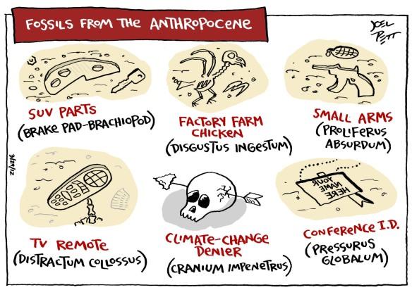 Mögliche Anthropozän-Fossilien? (aus Planet under Pressure)